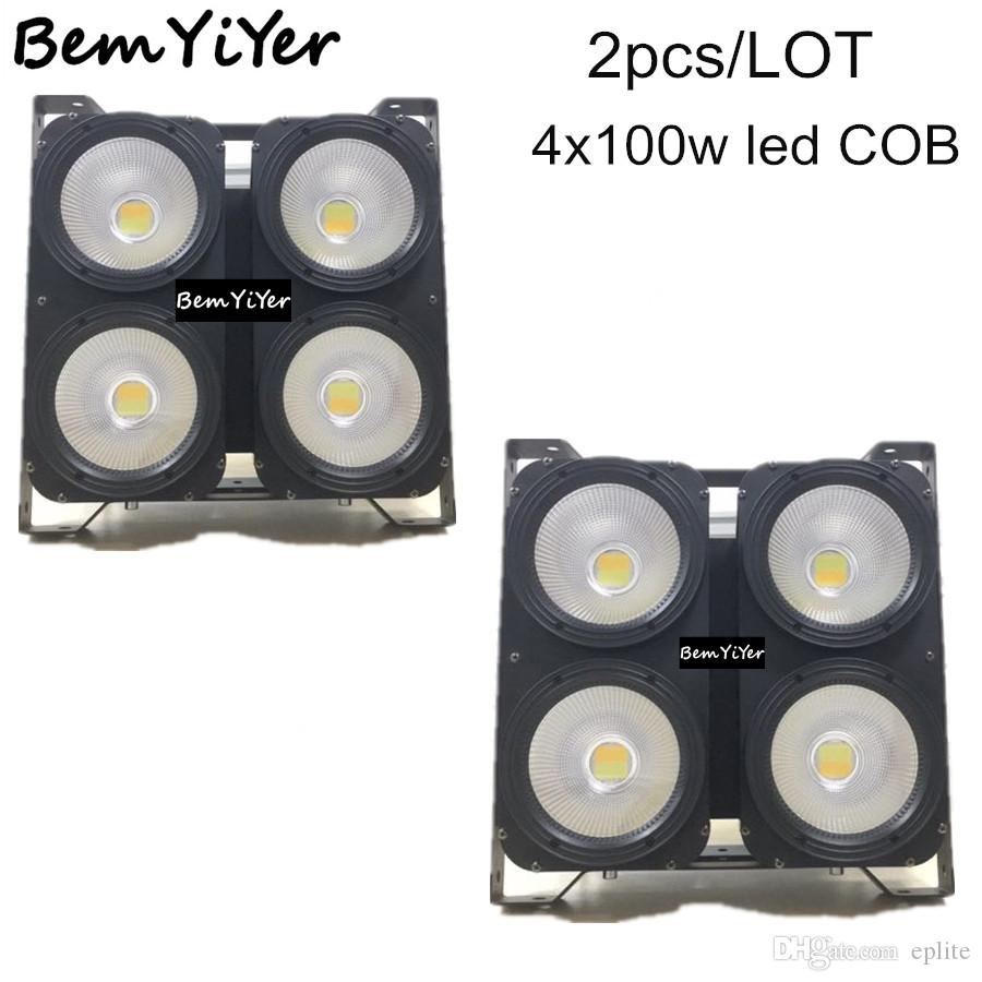 4x100w Led Cob Blinder Light/Cool+Warm White 2in1/4eyes Audience/Dj ...