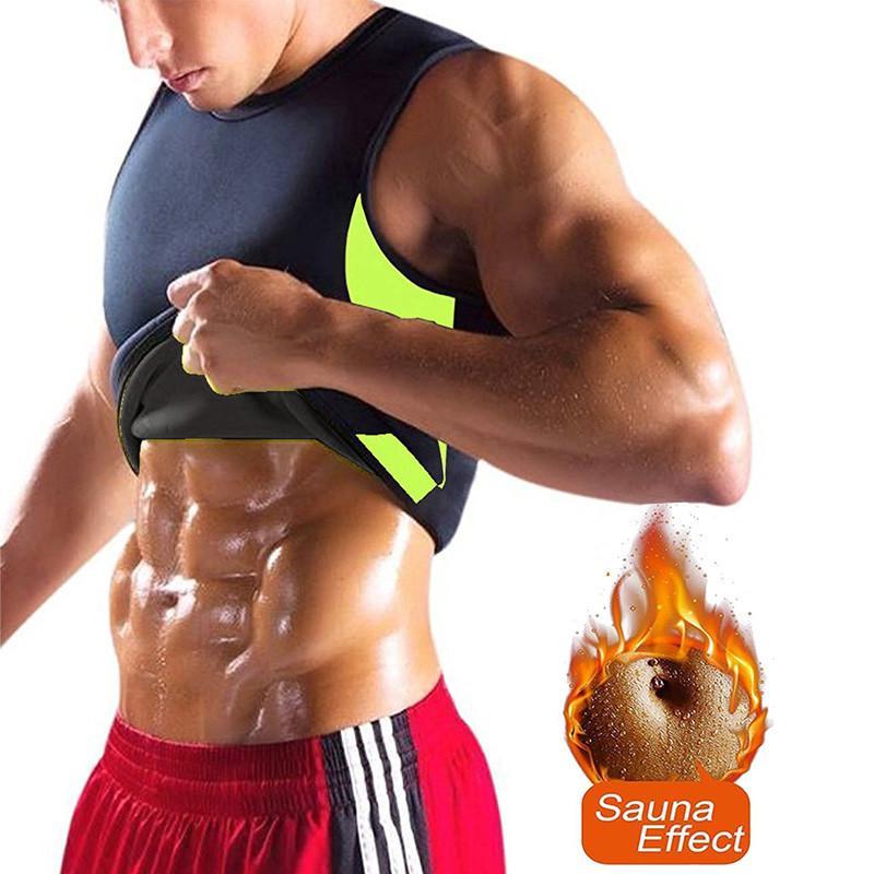 23339331aec69 2019 NINGMI Men Hot Shirt Sauna Vest Sweat Body Shaper Tight Fat  Compression Waist Trainer Corset Tank Top Slimming Shapewear T Shirt From  Afanticlothes