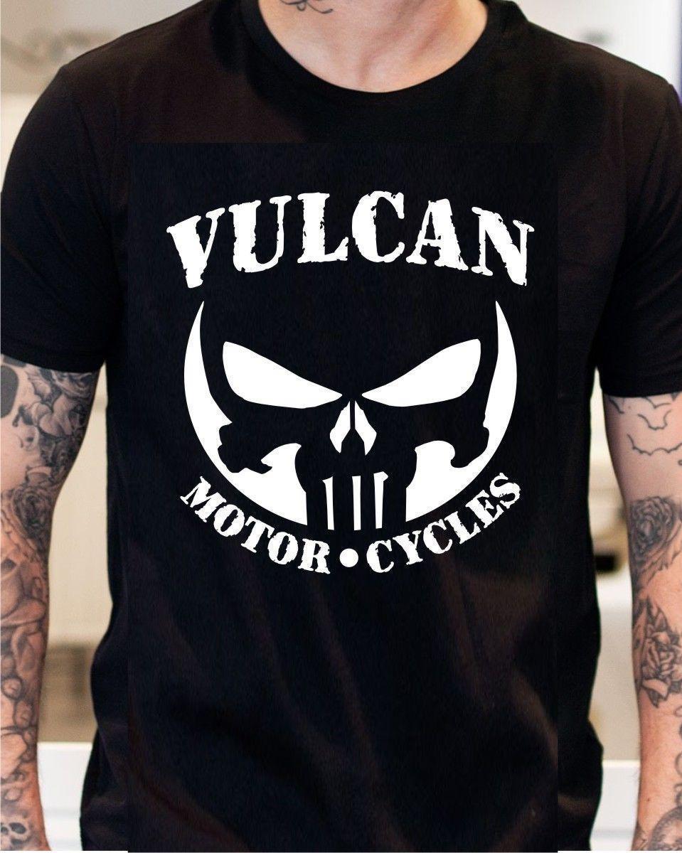 Grosshandel Kawasaki Vulcan Nomad Voyager Black T Shirt Punisher Von