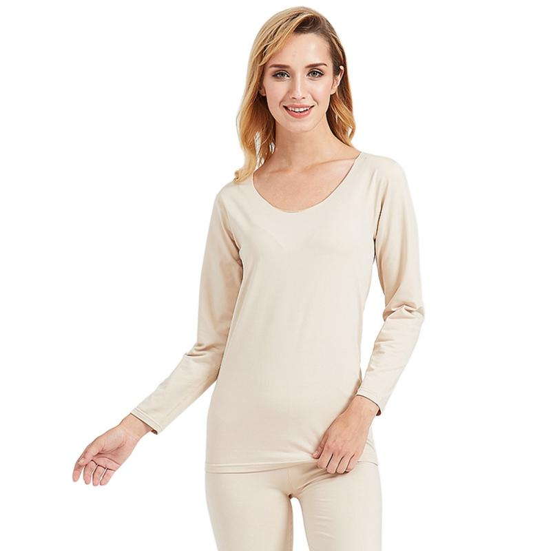 94dbecaef0ee 2019 Winter Warm Nightwear Pajama Sets Fashion Solid Pajamas Lingerie Set  Ladies Clothes O Neck Long Sleeve T Shirt+Pants From Kuaikey