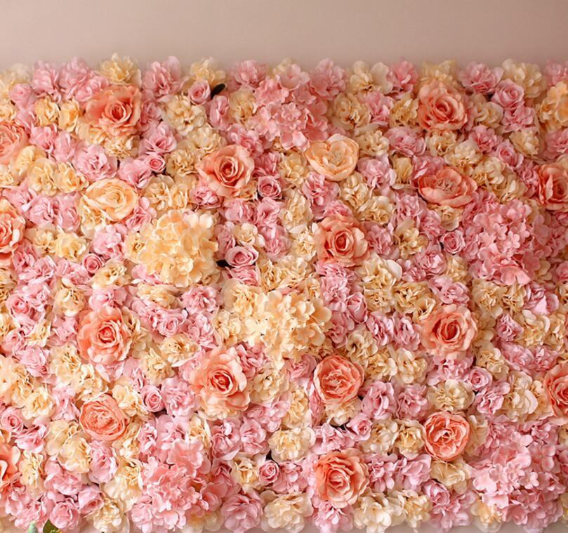 Grosshandel Hortensie 60x40 Cm Kunstliche Rose Blume Wand Hochzeit