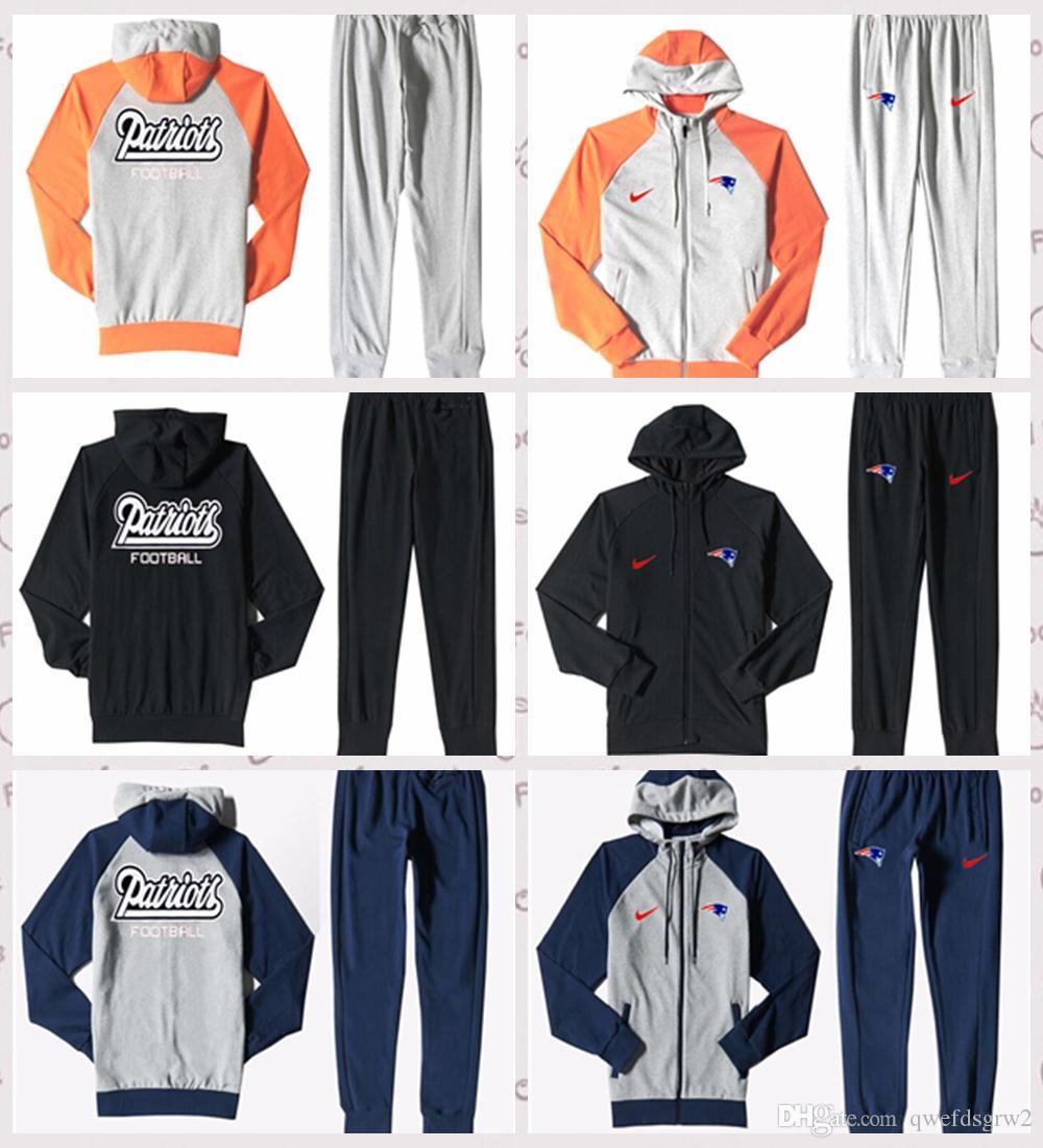 e9b532eed4cf8 New Englad Patriots Autumn Men S Print Full Zip Sportswear Men S Sport Suit  Bodysuit Plus Pantsuit Three Colors New Englad Patriots Printed Galleon  Hooded ...