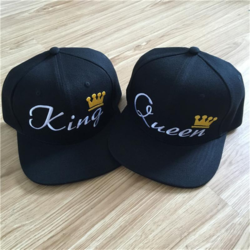 KING QUEEN Embroidery Crown Snapback Hat For Men Women Punk Street Baseball Caps  Couple Gifts Each New 2017 Hatland Brixton Hats From Value111 e2aab802cc56