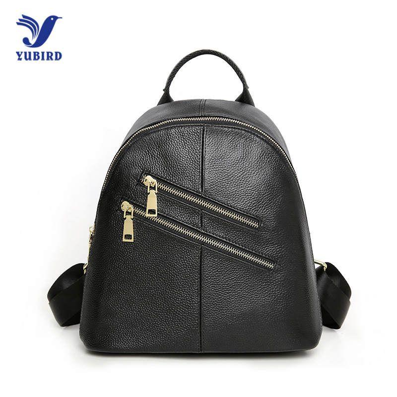 14d9015d68 YUBIRD 100% Genuine Leather Women S Backpack Female Ladies  BackpacTravel  Ipad Cowhide School Bag For Teenage Girl 2018 New Leather Backpacks One  Strap ...