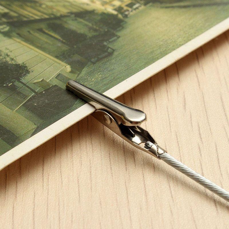 50 pçs / set Artesanato Partido Jacaré Clipe Fio Clipe Decoração para Cartão Nota DIY Imagem Foto Memo Titular Clips Argila Bolo Acessórios