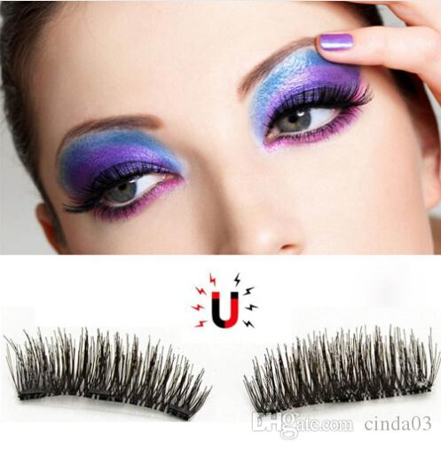 f10bb39d477 Double Magnetic False Eyelashes 3D Naturally Realistic Magnet Eyelashes  Natural Look Ultra Thin Fake Eye Lashes Double Eyelashes Eyelash Extensions  Cost ...