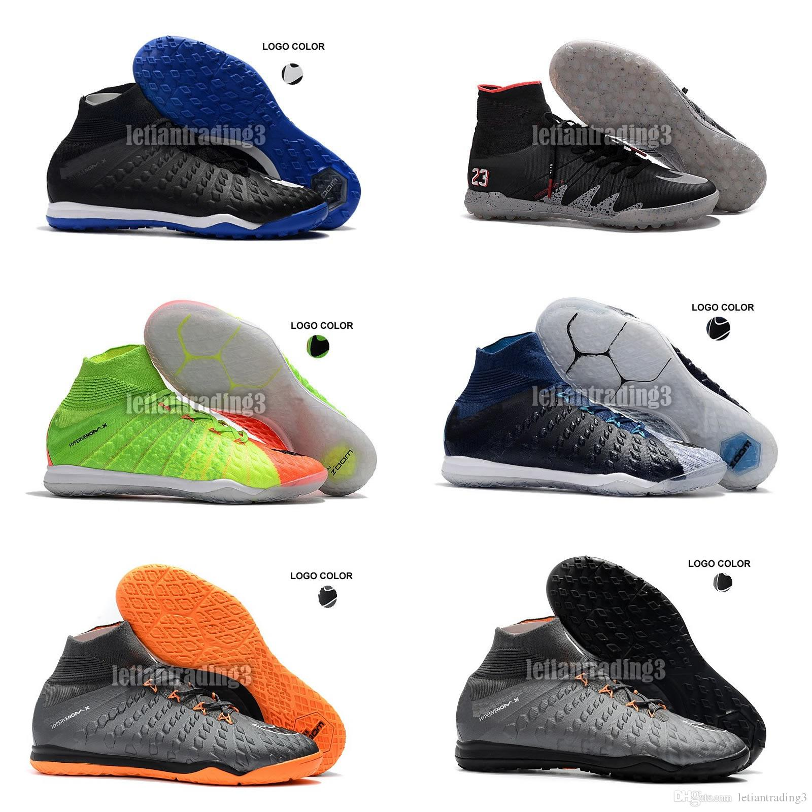 bff0407e70d9 2018 Hypervenom Phantom II TF 3D Indoor Soccer Cleats Trainers Football  Boost TF IC Mens Football Boots Soccer Shoes Online Formal Shoes Shoe Shops  From ...
