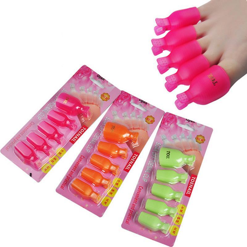 Plastic Foot Toe Nail Art Soak Off Cap Clip Uv Gel Polish Remover