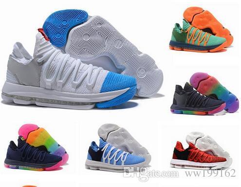 best sneakers 9d950 bb8e5 Großhandel Top KD 10 Basketball Schuhe Männer Männer Blau Tennis BHM Kevin  Durant 10 X Kds Elite Floral Tante Perlen Ostern Sport Schuh Turnschuhe Von  ...