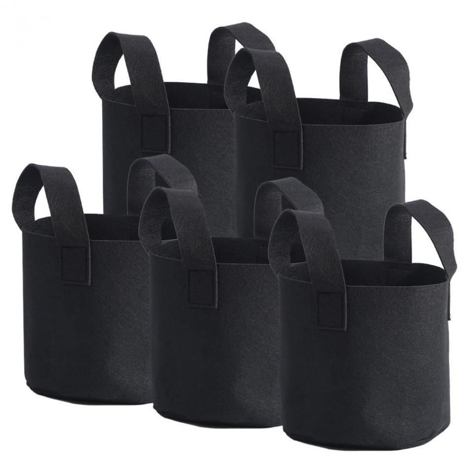 1/2/3/5/7/10 Gallon Black Plants Growing Bag Vegetable Flower Aeration Planting Pot Container