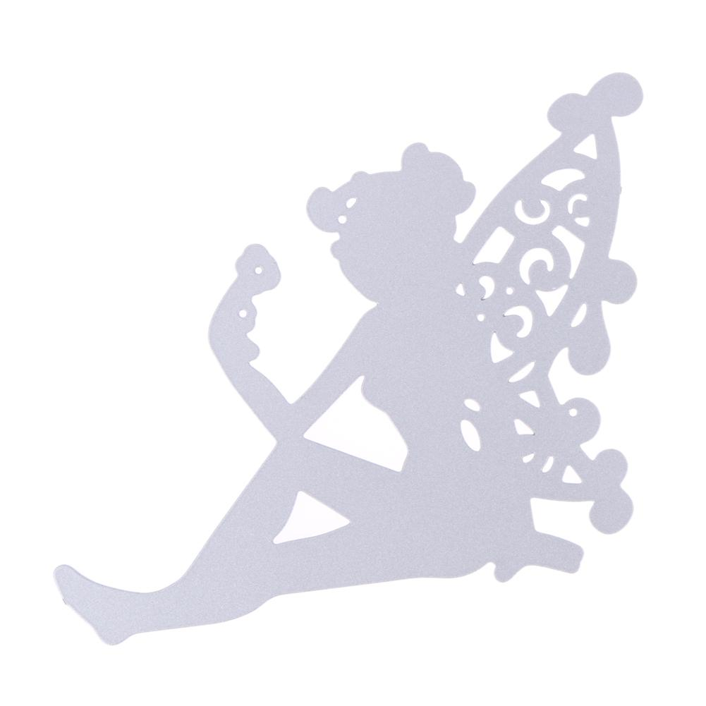 1pcs Metal Steel dainty Sitting fairy Cutting Dies Stencil For DIY Scrapbooking Album Paper Card Photo Decorative Craft
