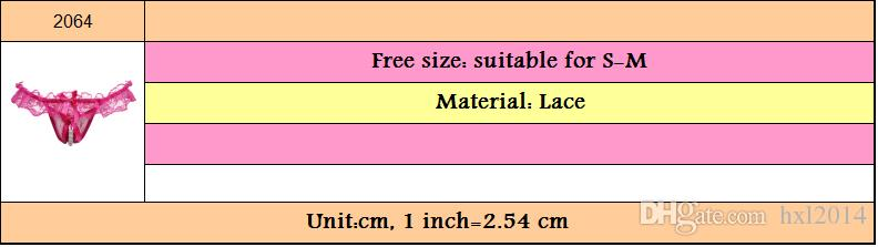 2019 Women's Underwear G-Strings young girl sexy lingerie plus size lace panties for women wholesalers #2064