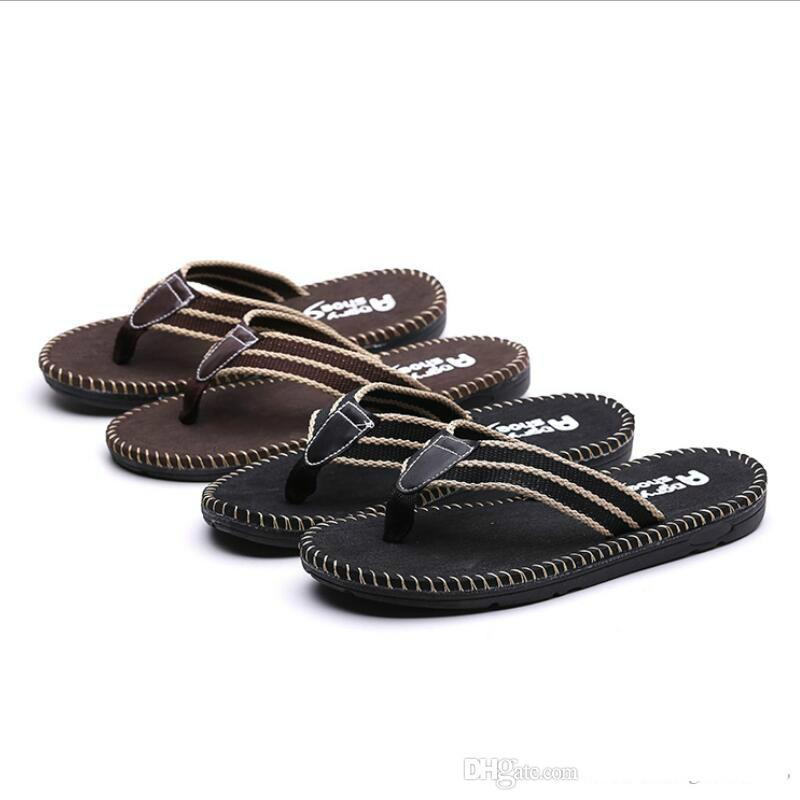 51ee38127cf Best Quality Men Shoes Slippers Male Summer Flip Flops Fashion Superstar  Beach Slippers Casual Original Slippers For Men S Sandals Sheepskin Slippers  ...