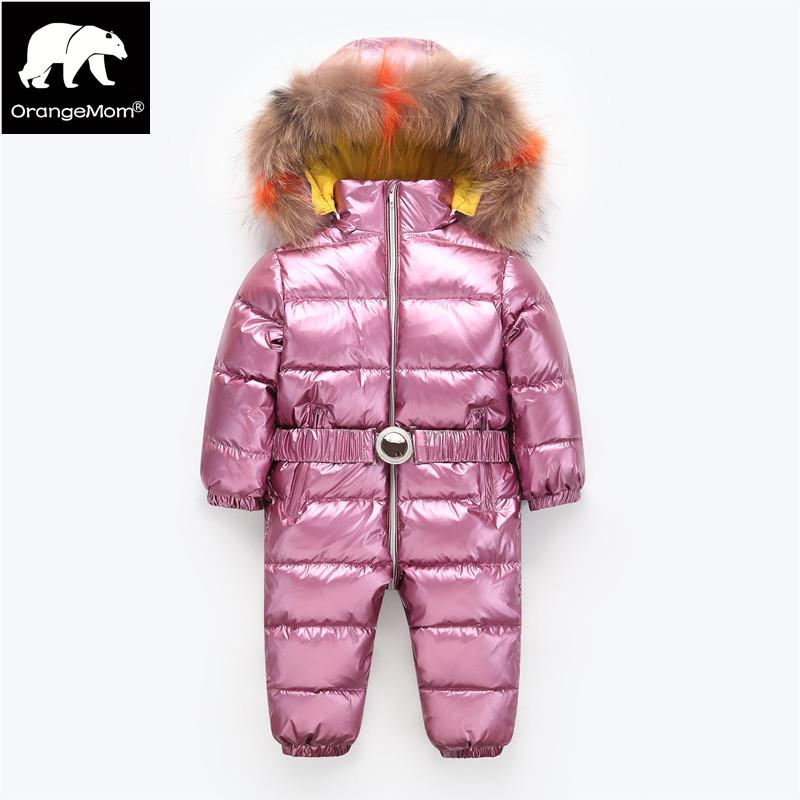 6ed47cb429a1 Orangemom Children S Jumpsuit Baby Girls Winter Coat Brand Jacket ...
