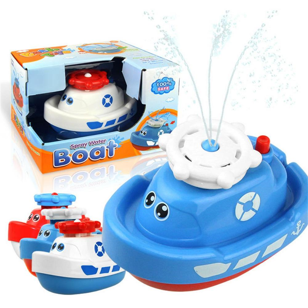 Baby Boats Children\'S Electric Rotating Water Jet Boat Toy Bathroom ...
