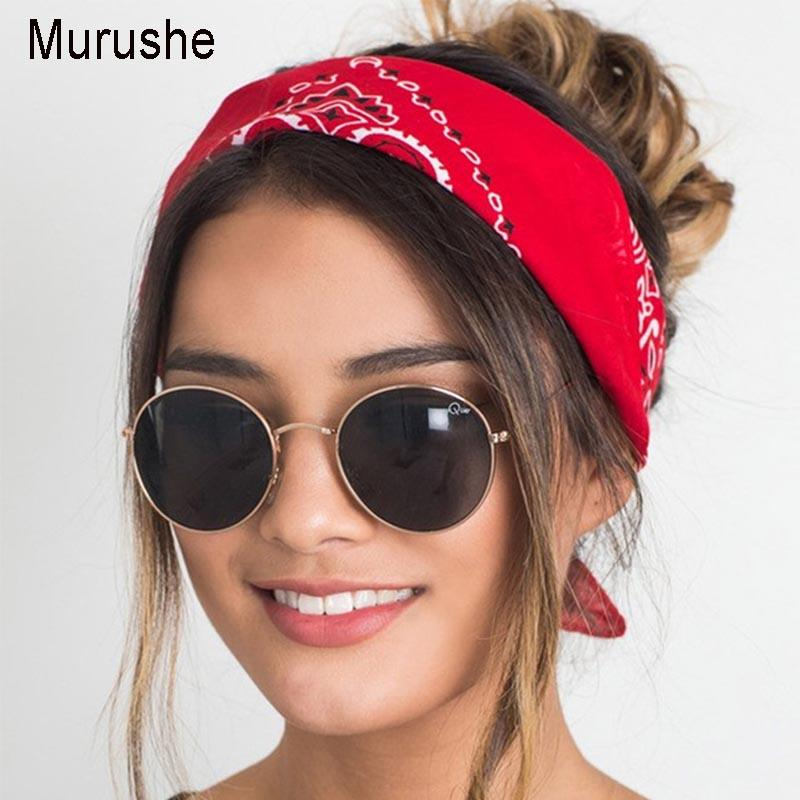 Murushe Korea Women Headbands Twist Turban Linen Bandana Scarf Square Hair  Accessories Female Headwear Rock Cool Girls Hairband Decorative Hair Pieces  Hair ... a81b4570832