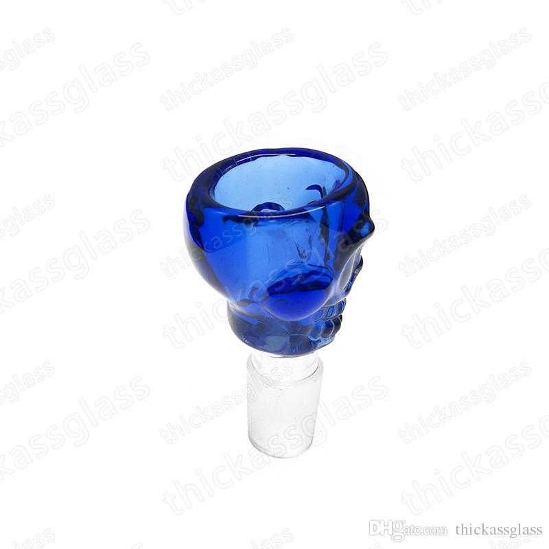 venta al por mayor bong bowls 14mm 18 mm conjunto cráneo cuencos de vidrio para pipa de agua de vidrio y bongs