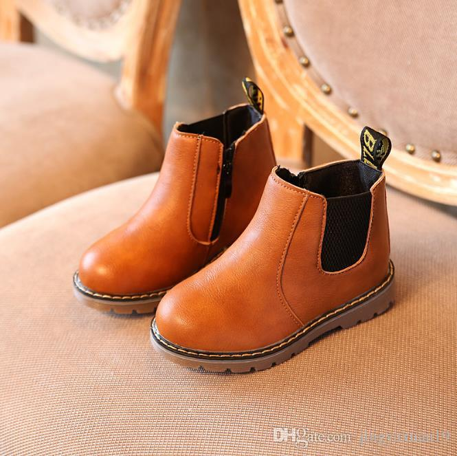 Kids Autumn Baby Boys Oxford Shoes For Children Dress Boots Girls ... 3c8048aee1e5