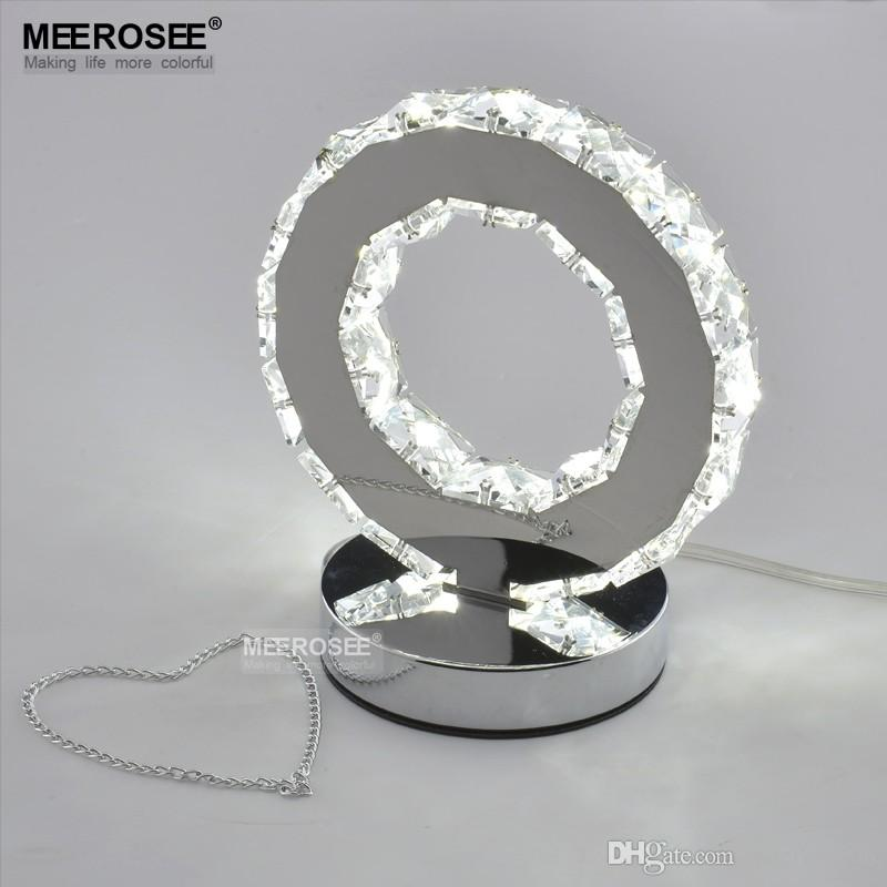 LED Crystal Ring Table Light LED Reading Light Bedside Table Light Desk Lamp For Bedroom Reading Room Shopping Mall Desk Lampara