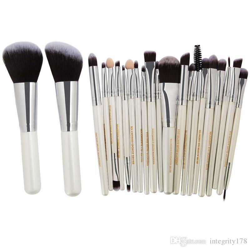 Maange pro cosméticos maquiagem pincéis set blusher sombra de olho sobrancelha em pó foundation foundation kit escova beauty fundamentos