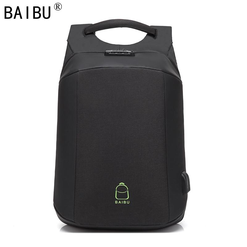Acquista BAIBU NUOVO Zaino Uomo Password Antifurto Big Designer Laptop Zaino  USB Ricarica Borse Da Viaggio Studenti Adolescenti A  40.21 Dal Baibu store  ... 6deabda934a