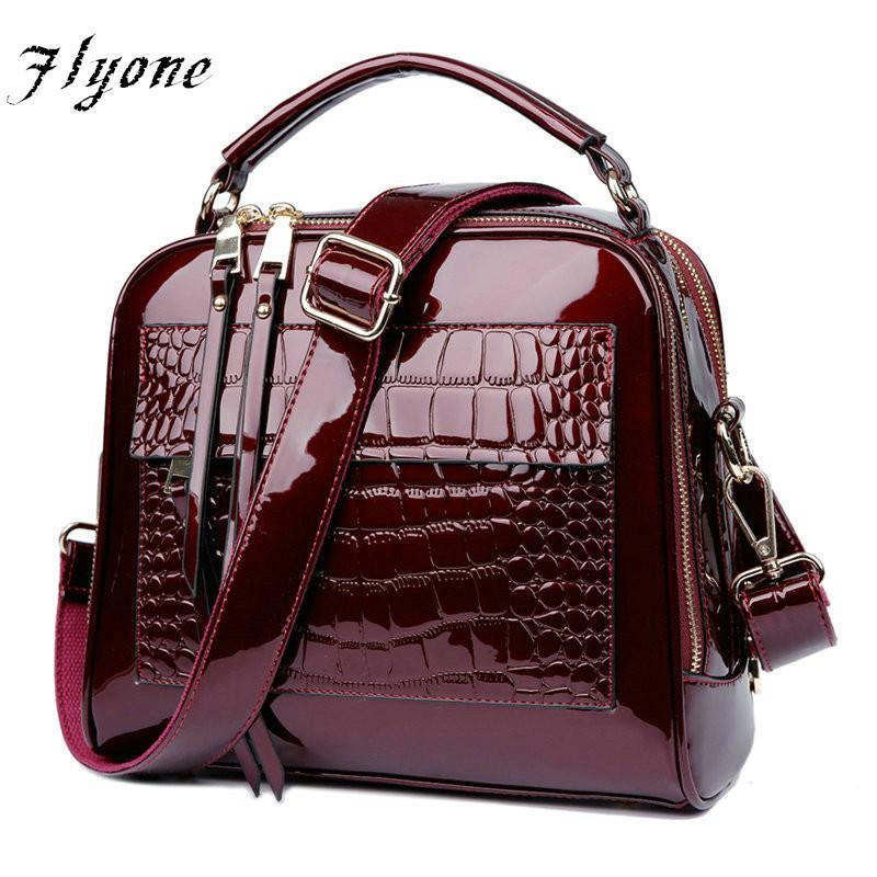 bb3c6580f78b2 Großhandel FLYONE Tasche Marke Frauen Handtaschen Krokodil Leder Mode  Shopper Einkaufstasche Weibliche Luxus Umhängetaschen Handtasche Bolsa  Feminina Von ...