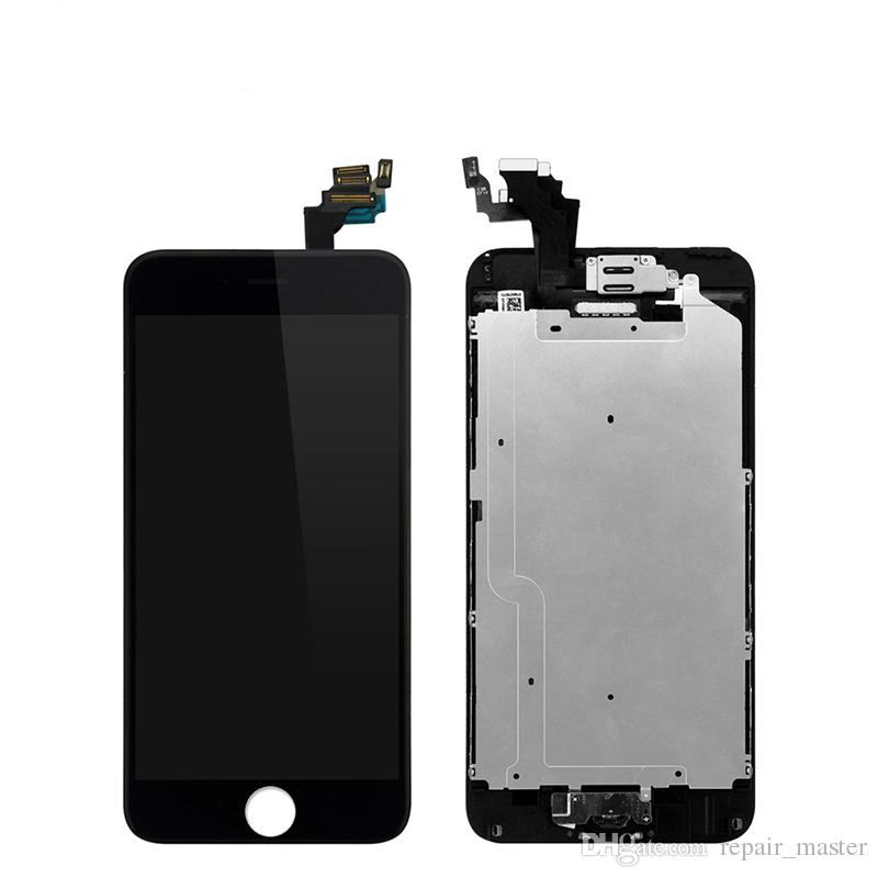 Display for iphone LCD Screen Touch Assembly For iPhone 6 & 6 Plus LCD+Front Camera Good Quality 100% Tested Without Home Button