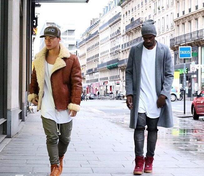 Fashion men extended t shirt longline hip hop tee shirts women justin bieber swag clothes harajuku rock tshirt homme