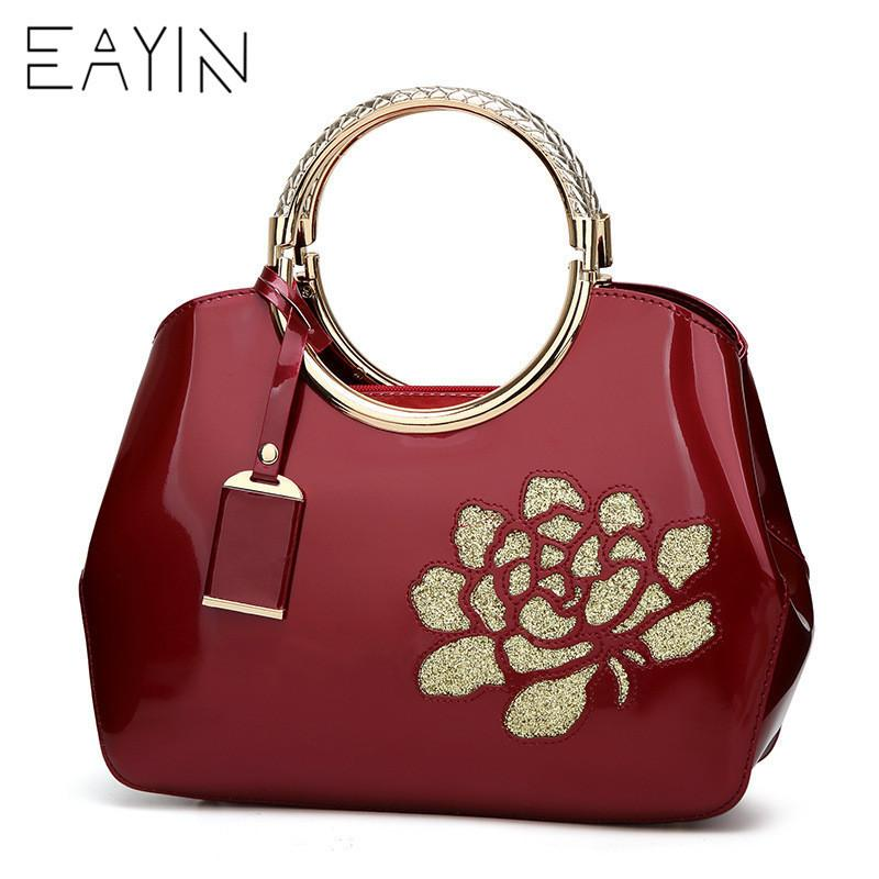 296857717a 2019 Fashion EAYIN Women Famous Brands Tote Bag Luxury Women Bags Designer  Famous Brands Bag Patent Lady S Lacquered Handbag Female Bags Branded Bags  ...