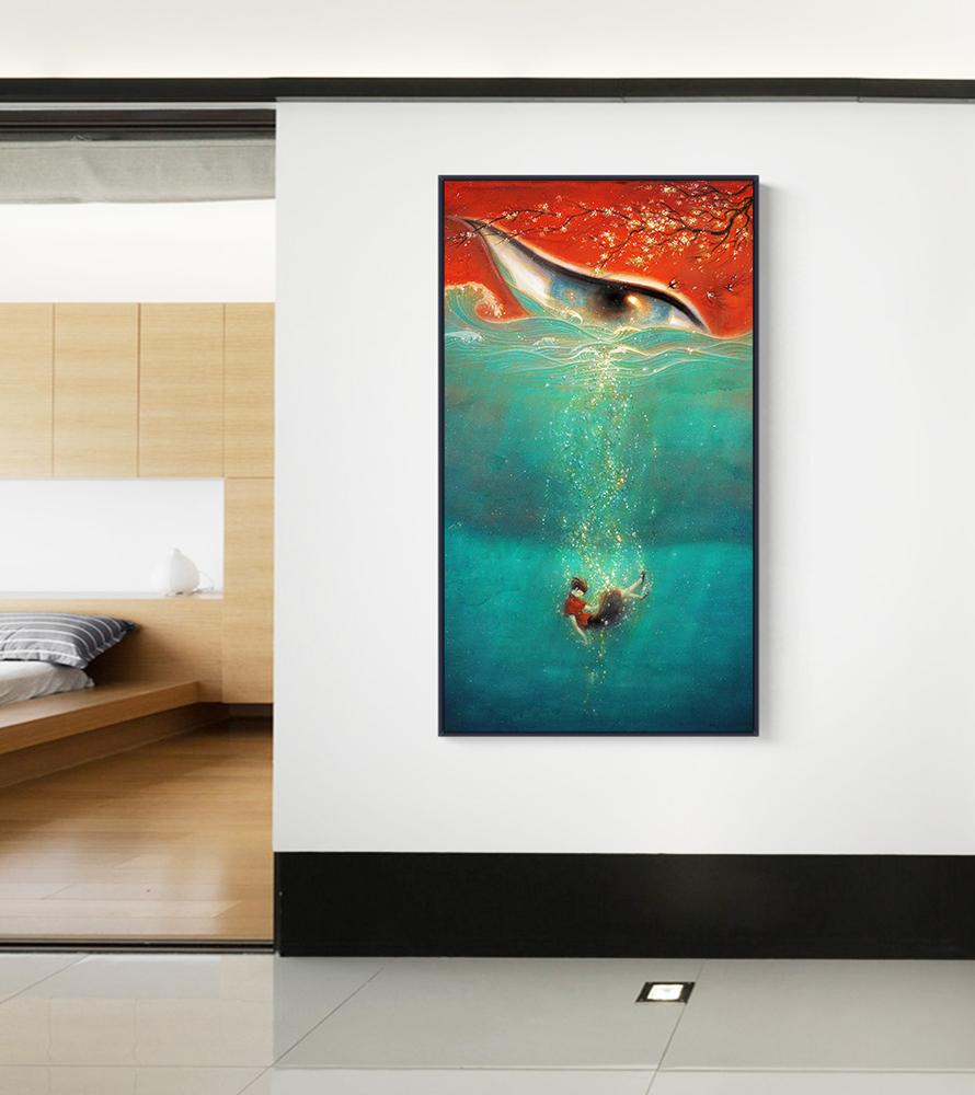 Modern HD Poster And Printmaking Films Fish And Crabapple Canvas ...