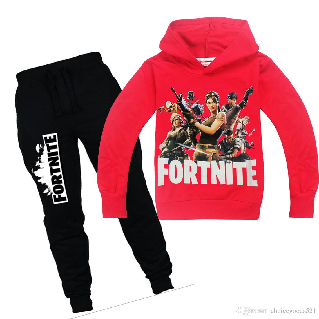 Children Clothing Sets Spring Autumn Baby Boys Girls Clothes Sets Fashion Fortnite Print Hoodie+ Pants 2 Pcs Toddler Suits kids clothes