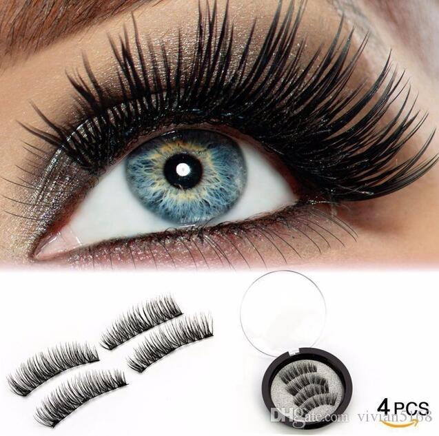 48867966a82 3D 3 Magnetic False Eyelashes Natural Beauty Full Strip Magnet Hair  Extension Fake Eye Lashes Make Up Sets New Hot Hollywood Lashes How To  Apply False ...