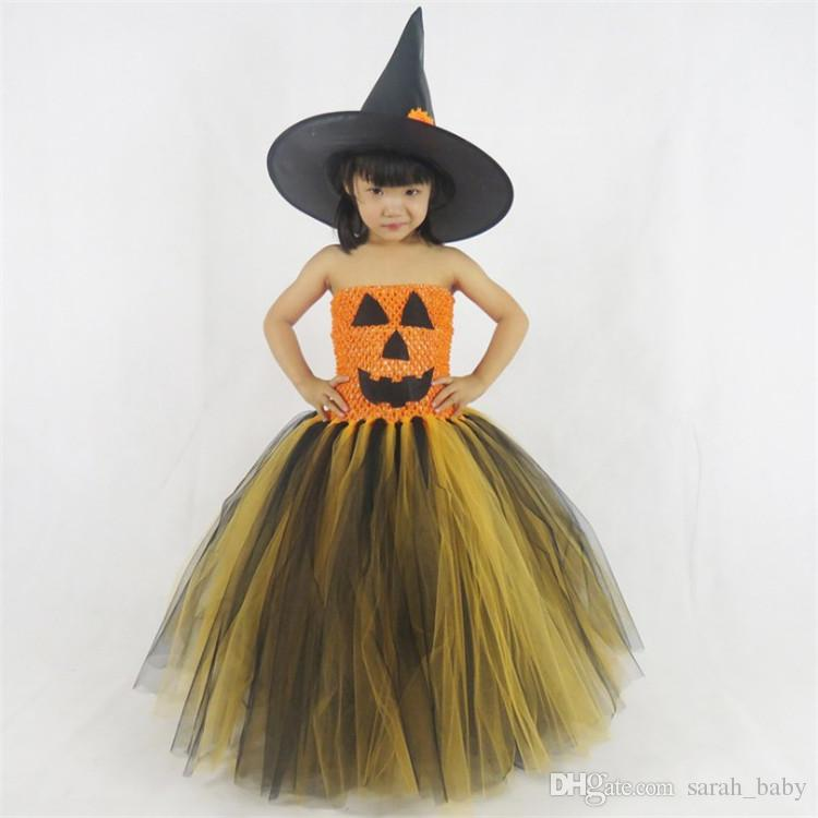 2018 Halloween Children\'S Catwalk Tutu Witch Dress European American ...