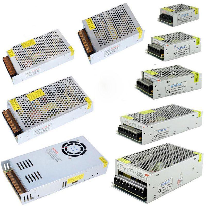 Светодиодные полосы света 12V источник питания светодиодный драйвер адаптер для AC110V-240V к DC1A 2A 5A 8A 10A 15A 20A 30A импульсный адаптер питания