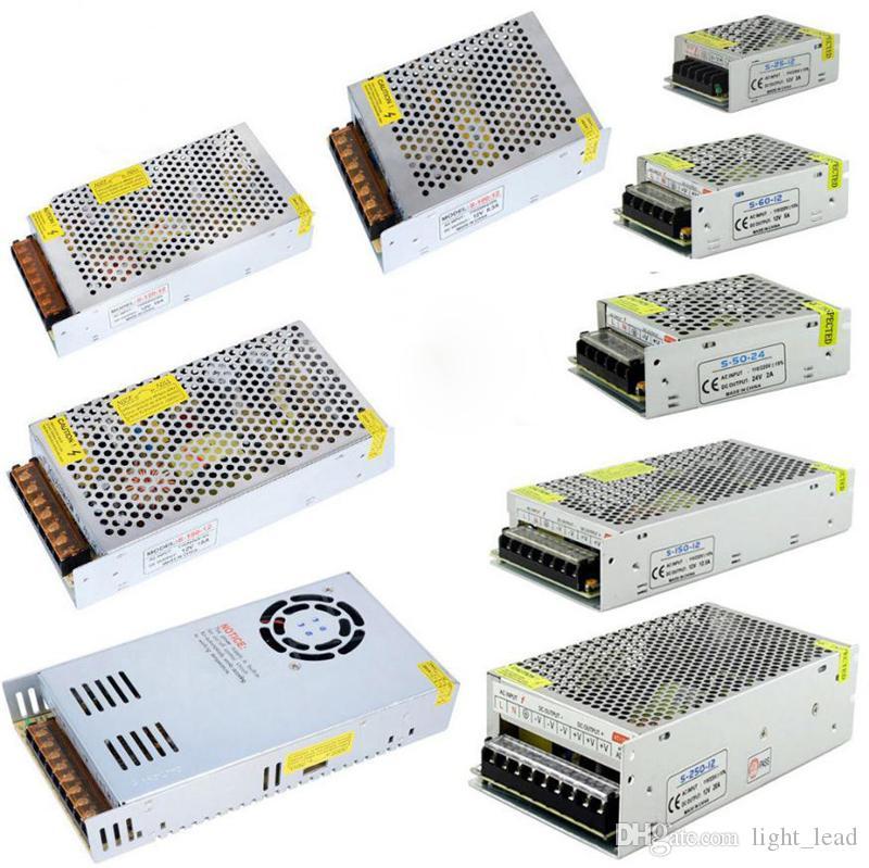 Led Lights bande 12V Alimentation Led Adaptateur pour pilote AC110V-240V DC1A 2A 5A 8A 10A 15A 30A 20A de commutation Adaptateur
