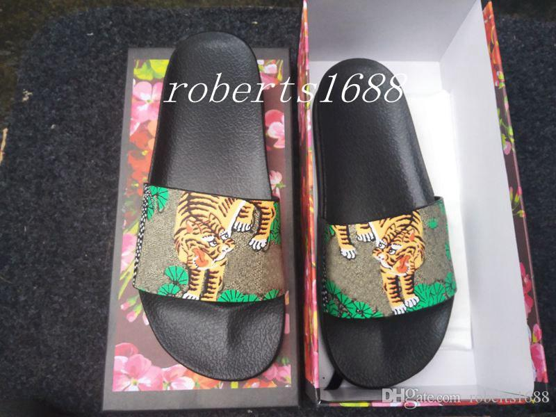 a24cc2f21a2d New Arrival Mens Fashion Green Bengal Tiger Slide Sandals Slippers ...