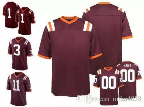 5dc140ddc5a 2019 NCAA Virginia Tech Hokies  7 Michael Vick 5 Tyrod Taylor 17 Kam  Chancellor 25 Frank Beamer White Orange Red College Football Jerseys S 4XL  From ...