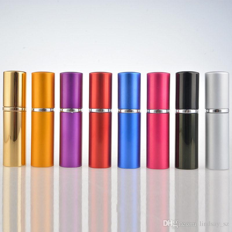 10 ml botella de vidrio de aluminio 10 ml botellas de perfume de regalo de alta calidad Mini perfume recargable atomizador botella de spray Fragancias para el hogar