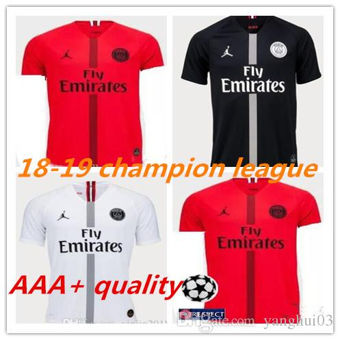 4ff7e7d66 2019 2018 Psg Jersey 18 19 Champions League MBAPPE Red Black Goalkeeper  Buffon VERRATTI White Jordam Soccer Jerseys Paris Maillot De Foot Shirt  From ...