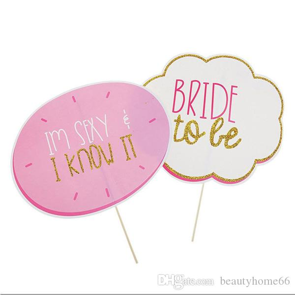 /Pack Team Bridal Shower Team Bride to be Photo Booth Props Girls Night Out Wedding Bachelorette Party Favors Decoration Event Supplies