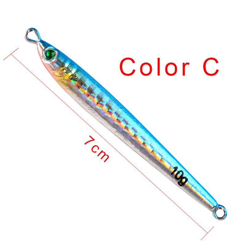 Cucharas de metal Cebo 7.7cm 10g Aolly Iron Spinnerbaits atifonales Señuelos BASS Peces de cebo para pesca con mosca