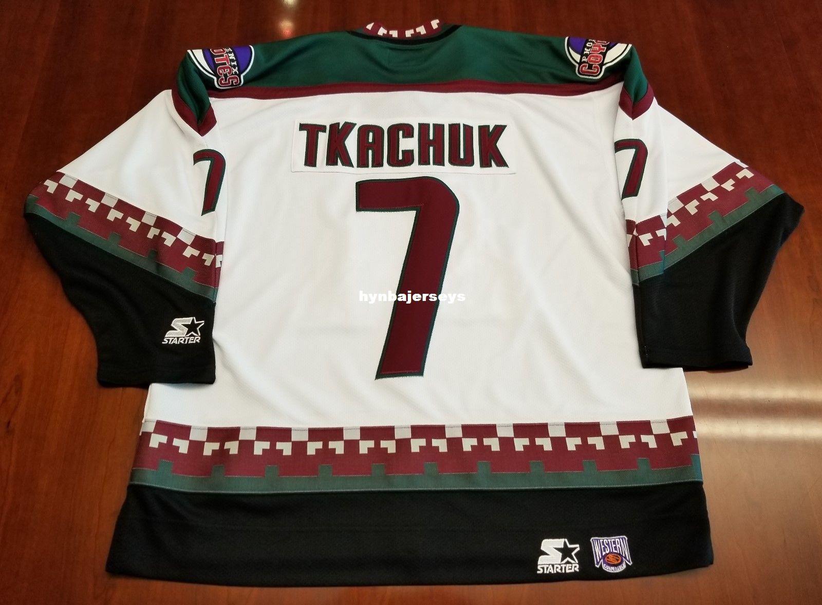 cbf6639f9 Custom Keith Tkachuk Vintage Phoenix Coyotes Starter Cheap Hockey ...