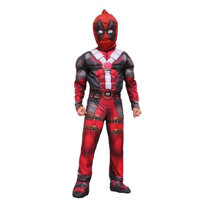 070ea482 Deluxe Boys Deadpool Muscle Costume Cosplay Marvel Movie Halloween Carnival  Purim Festival Kids Party Cosplay Clothing Family Themed Halloween Costumes  ...