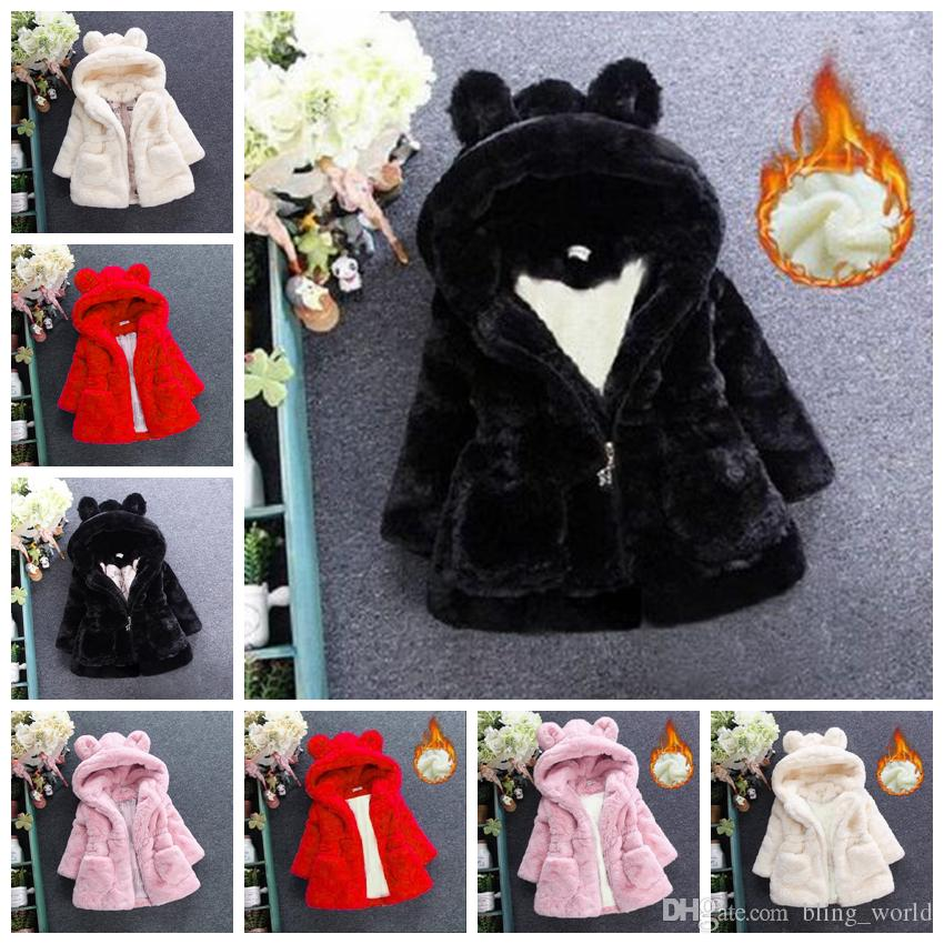 413ae4d32918 Kids Winter Coats Baby Hooded Windbreaker Rabbit Ears Cartoon Girls Coats  Kid Outwear Baby Clothing 8 Designs Optional LDH257 Clearance Kids Coats  Toddler ...
