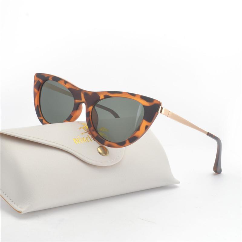 f137fcbfd1d MINCL  Vintage Flat Top Sunglasses Women 2018 Men Cat Fashion Sunglasses  Trend Brand Women Leopard Color Frame Eyeglass NX Sunglasses Cheap  Sunglasses ...