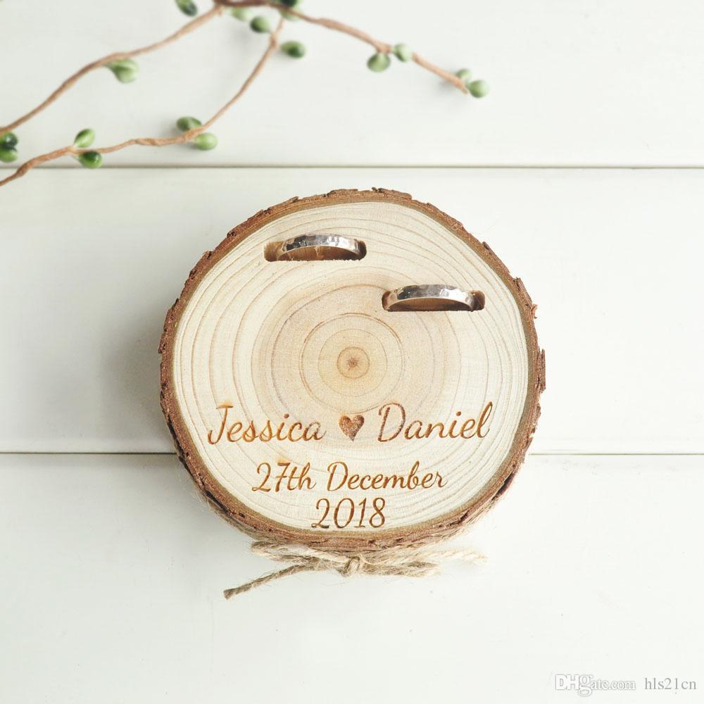 Grosshandel Kundenspezifische Hochzeitsgeschenke Ring Bearer Box
