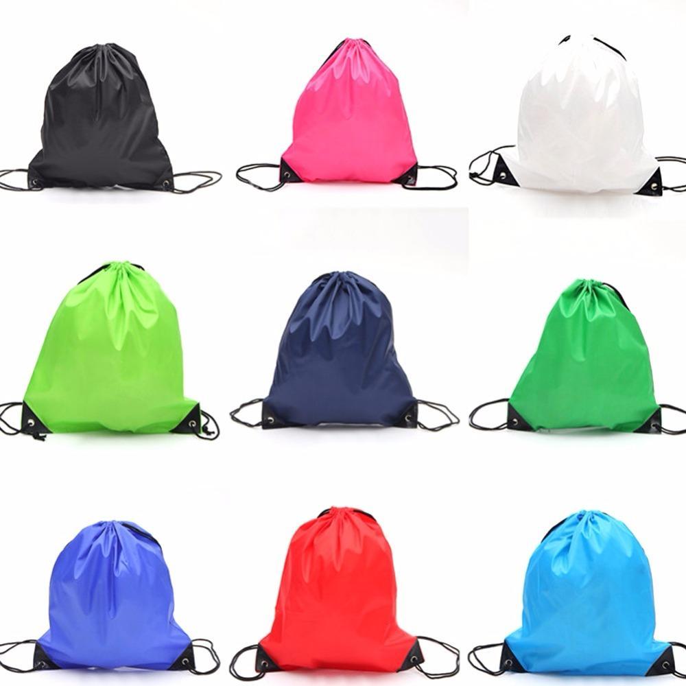 cd6376f6a471 35 40cm School Sport Travel Bag Gym Swim Dance Shoes Backpack Bundle Nylon  Drawstring Rope Custom Shoulder Storage Bags UK 2019 From Shutie