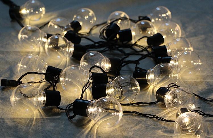 20 LED Globe Festoon Party Ball string light led Christmas Lights Connectable fairy light wedding garden party pendant garland