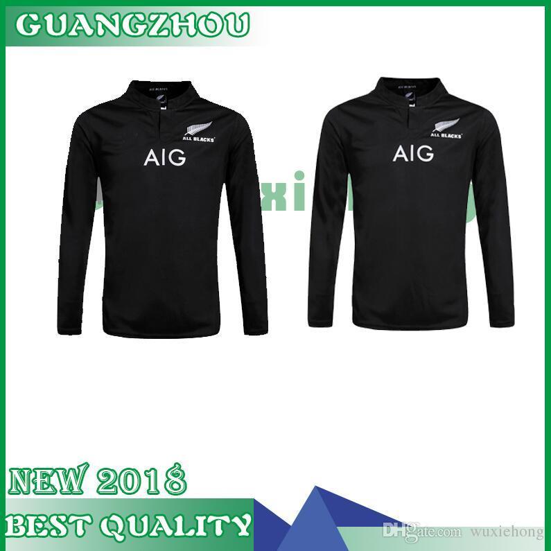 0ca559106a5 2019 News New Zealand All Blacks Long Sleeve Rugby Jersey Shirt 2015 2016  2017 Season