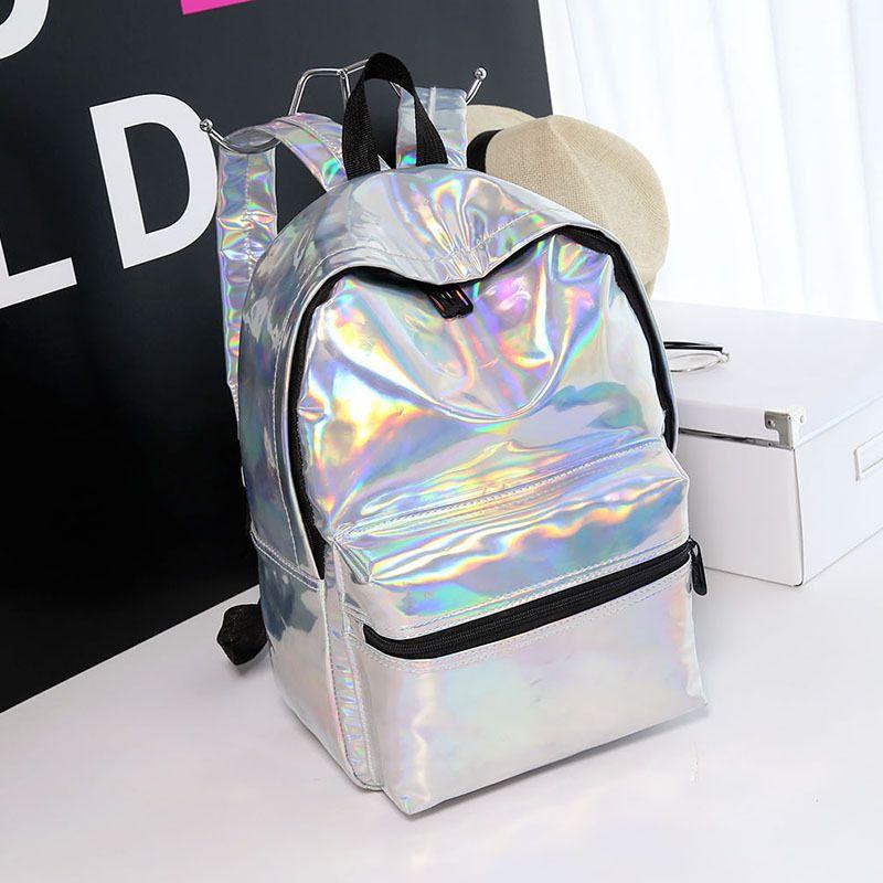 Women Pvc Laser Backpacks For Teenage Girls Fashion School Bags For Girls Travel Rucksack Casual Backpack Women Mochila Feminina Top Watermelons Men's Bags